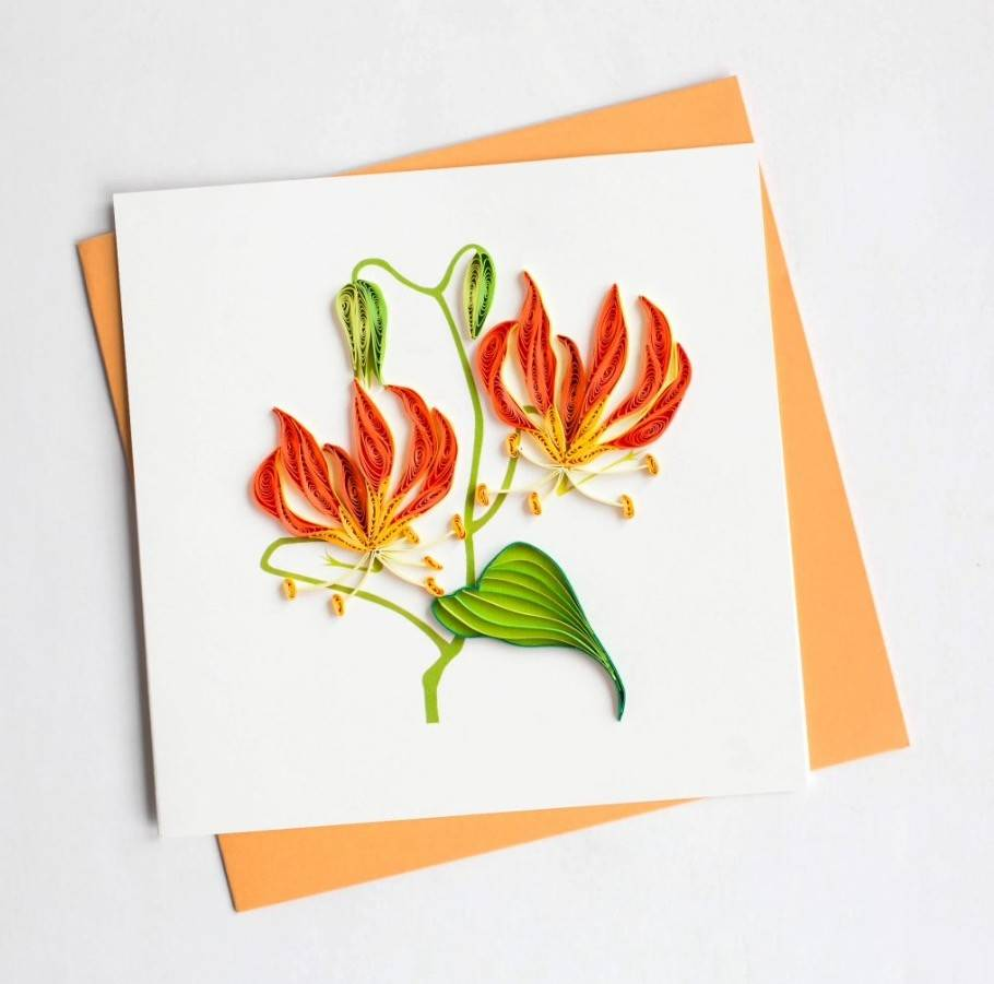 Quilling Card Tiger Lily