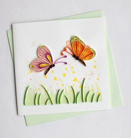 Quilling Card Two Butterflies