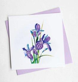 Quilling Card Iris
