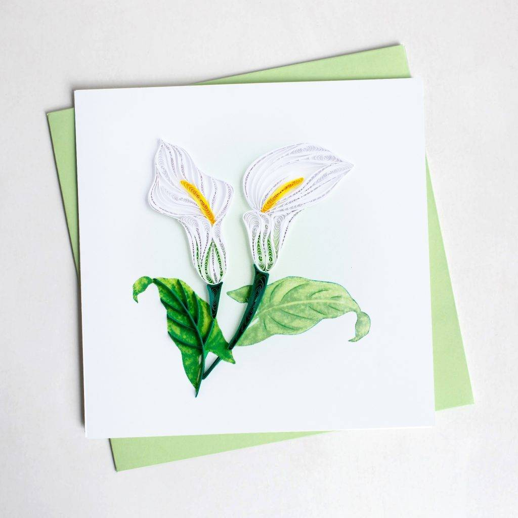 Quilling Card Calla Lily