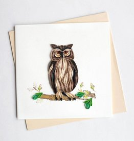 Quilling Card Great Horned Owl