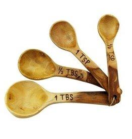 Unique Batik Coffee Wood Measuring Spoons