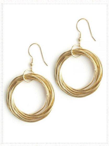 Mata Traders Connected Hoop Earrings