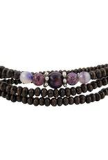 Unique Batik Wood Bead Wrap