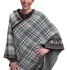 Green 3 Apparel Vintage Plaid Poncho