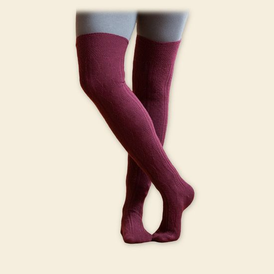 Maggies Organics Over the Knee Wool Sock