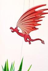 Tulia's Artisan Gallery Small Dragon Flying Mobile