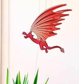 Tulia's Artisan Gallery Small Dragon Flying Mobile