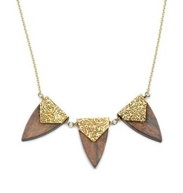 Matr Boomie Durga Arrowhead Trio Necklace