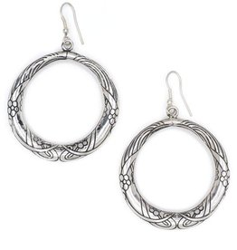 Matr Boomie Silver Selene Hoop Earrings