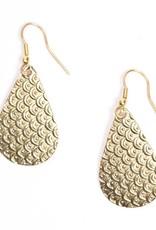 Matr Boomie Art Deco Scallop Earrings