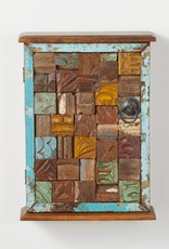 SERRV Reclaimed Wood Block Wall Cabinet