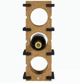 6 Bottle Wine Rack-light on dark