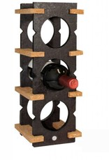 6 Bottle Wine Rack-dark on light