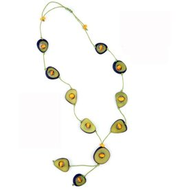 Tagua Thick Slice & Chip Necklace