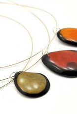 Tagua Dyed Circle Necklace
