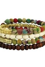 WorldFinds Kantha Coiled Bracelet