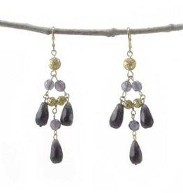Tia Chandelier Earrings - Purple