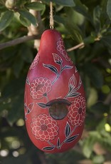 Fiery Floral Birdhouse