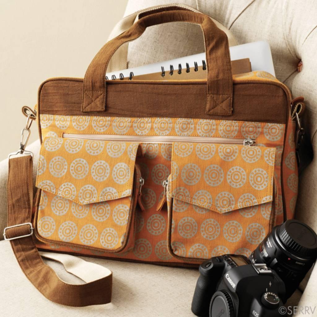 Orange Business Bag