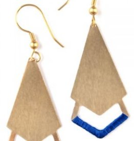 Threaded Arrow Earrings-GLD