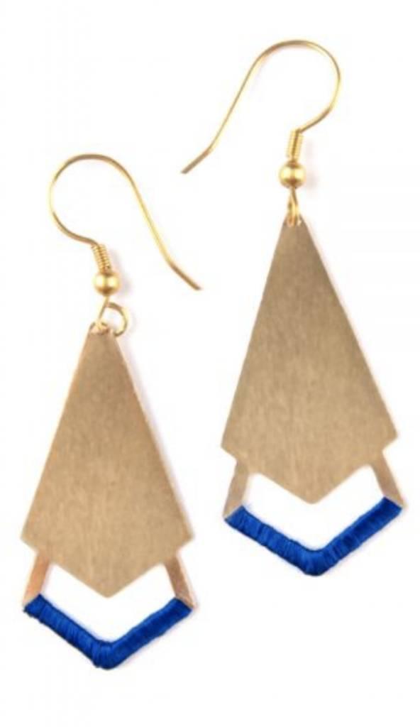 Threaded Arrow Earrings-GLD