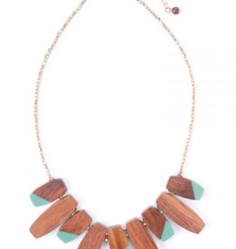 Colorblock Necklace-Teal