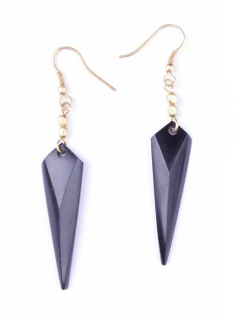 Pointed Arrow Earrings-BLK