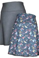 Green 3 Apparel Multi Birds & Crosshatch Reversible Sport Skirt