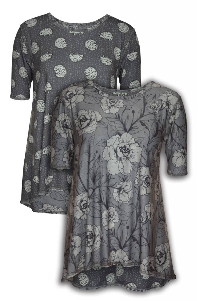 Hedgehog & Roses Reversible Tunic