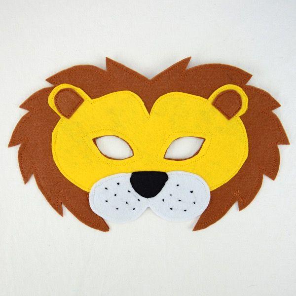 Lion Felt Mask