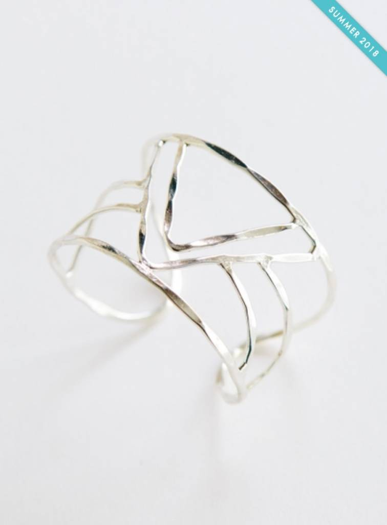 Mata Traders Peaks & Valleys Cuff Silver