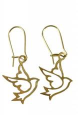 SERRV Brass Dove Earrings