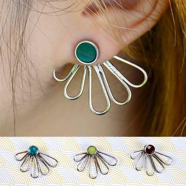 Petal Jacket Earrings