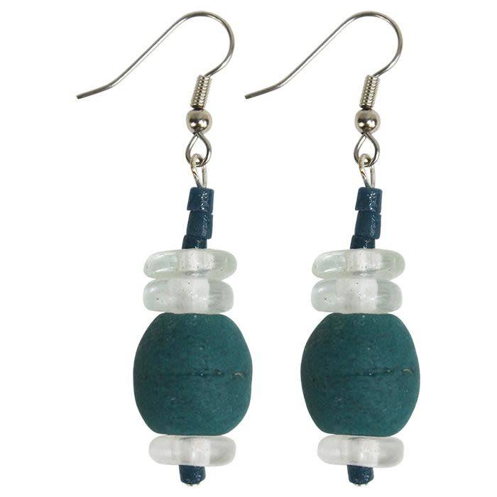 Abacus Earrings Teal