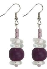 Abacus Earrings Plum