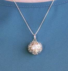 Dream Ball Silver With Flowers