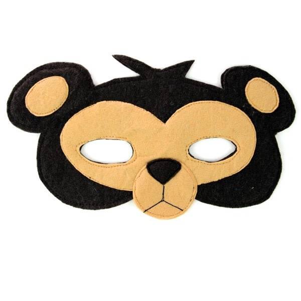Monkey Felt Mask