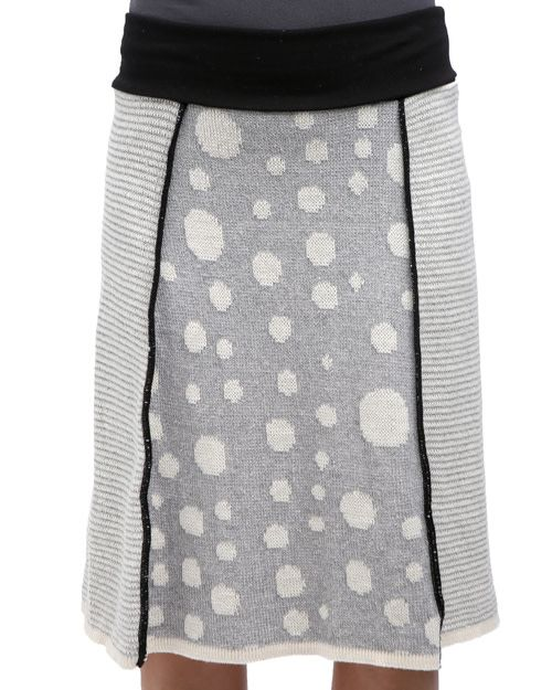 Green 3 Apparel Dot Stripe 4-Panel Skirt