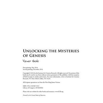 Unlocking the Mysteries of Genesis Viewer Guide