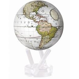 "Mova Globe - 4.5"" Cassini Terrestrial White"