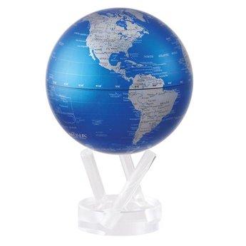 "Mova Globe - 4.5"" Cobalt Blue & Silver"