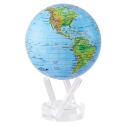 "Mova Globe - 4.5"" Blue w/Relief Map Earth Gloss"