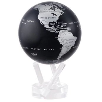 "Mova Globe - 4.5"" Silver/Black Earth"