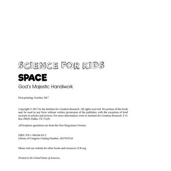Space: God's Majestic Handiwork - eBook