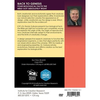 Dr. Randy Guliuzza Back to Genesis: Four Biological Facts the Bible Gets Right