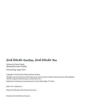 God Made Gorillas, God Made You - eBook