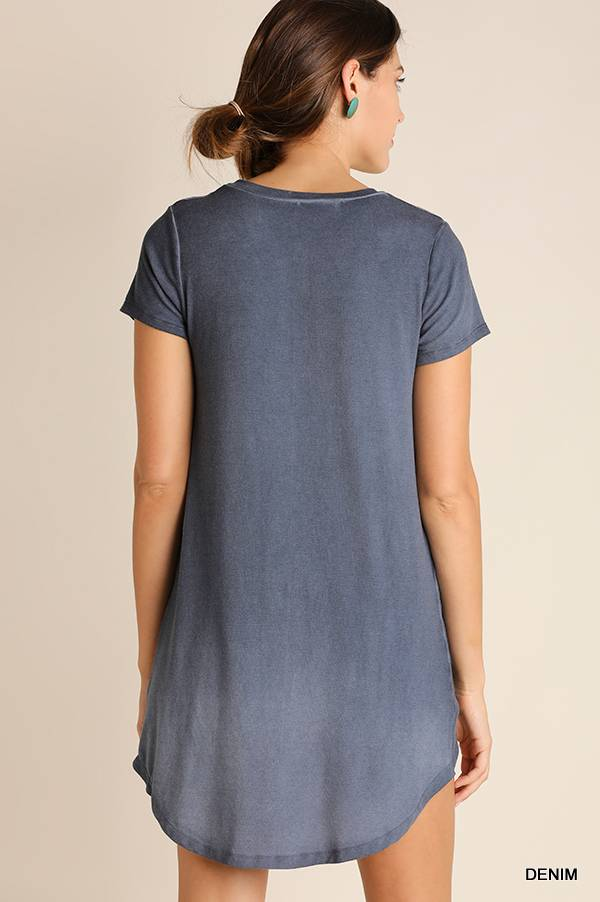 UMGEE Mineral High-Low Knot Top