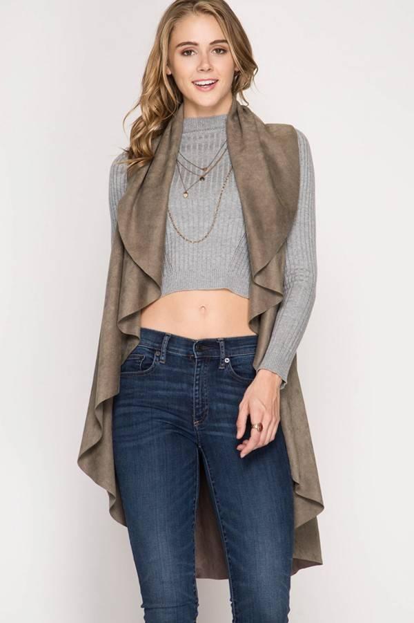 SHE + SKY Cascade Ruffle Vest
