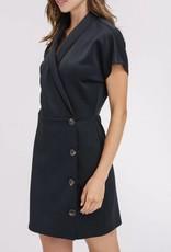 LISTICLE V-Neck Wrap Button Dress